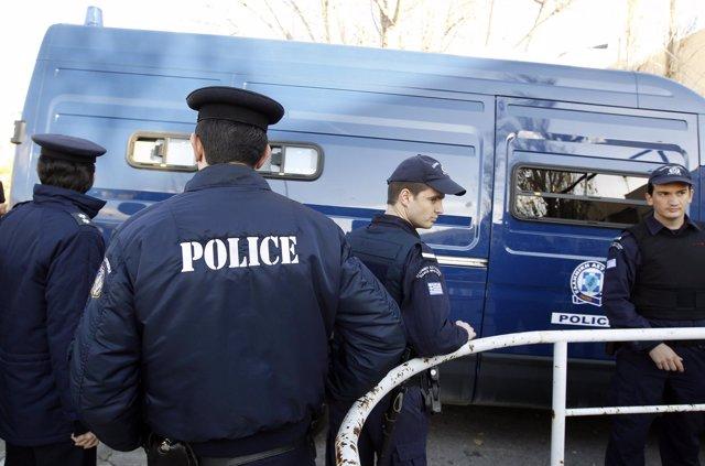 Agentes de Policía en Grecia