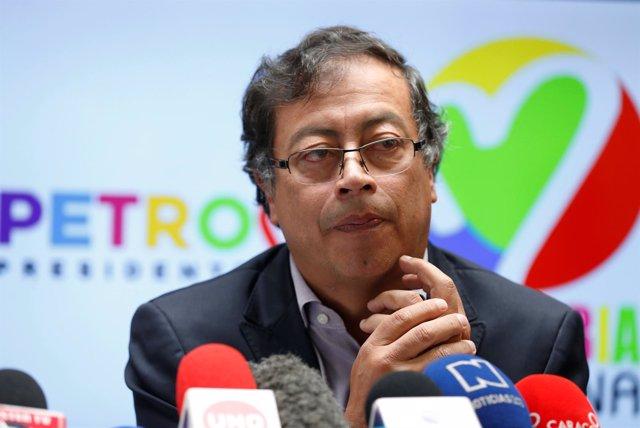 El candidato del Movimiento Colombia Humana, Gustavo Petro
