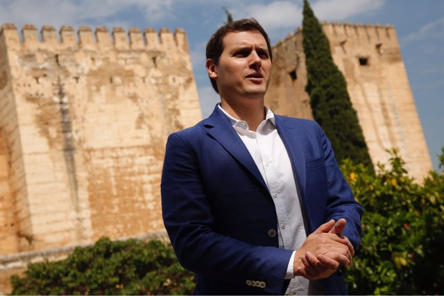 El presidente de Ciudadanos, Albert Rivera, en la Alhambra