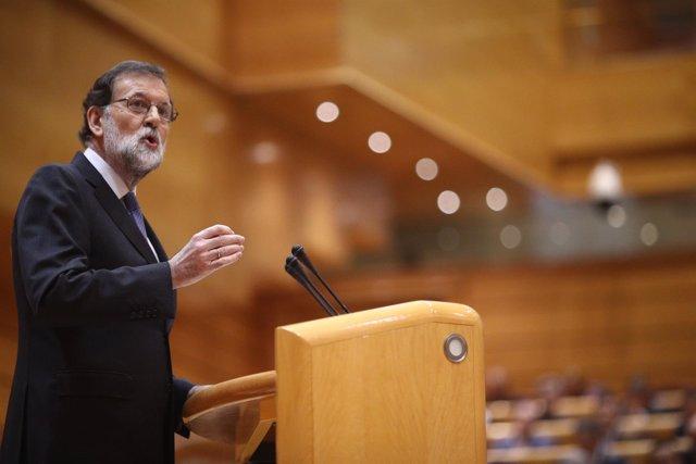 Rajoy interviene en el Pleno del Senado sobre el artículo 155