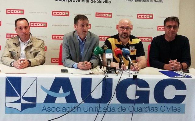Rueda de prensa en Sevilla de la AUGC sobre el narcotráfico en Cádiz