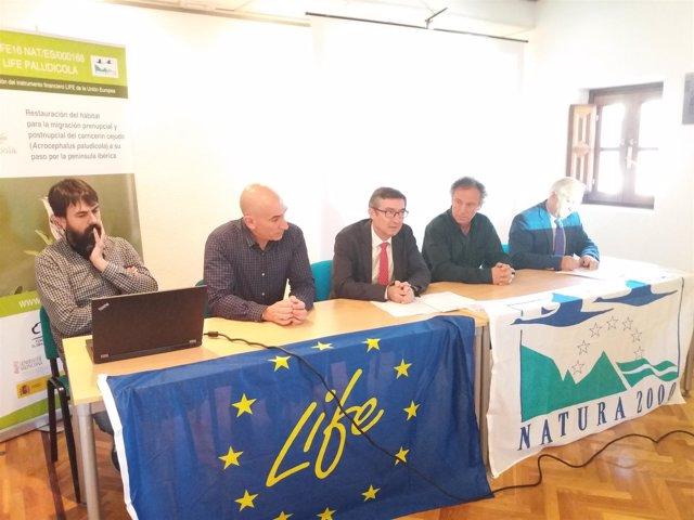IImagen de la presentación del proyecto Life Paludicola. 21-5-2018