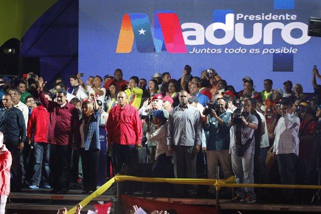 Celebración de Nicolás Maduro tras las elecciones