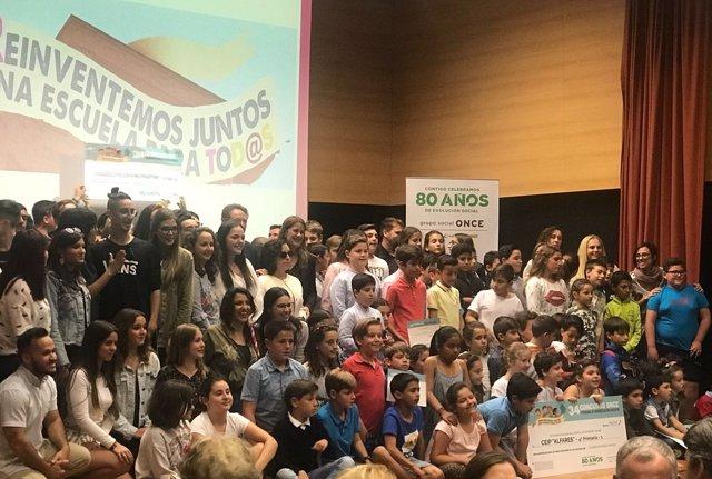 Ganadores autonómicos del concurso escolar del Grupo Social ONCE