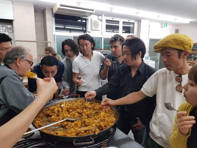 Quinta semifinal del Concurs Internacional de Paella de Sueca en Japón