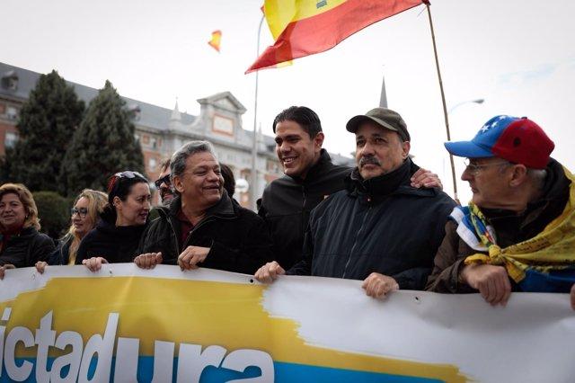 Manifestación para exigir elecciones libres en Venezuela
