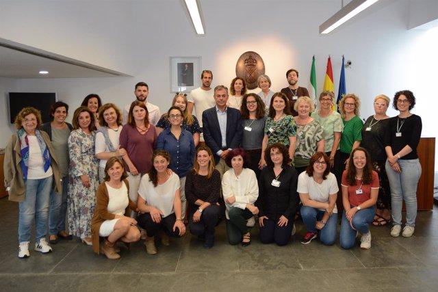Participantes en el proyecto Erasmus+ en Tomares