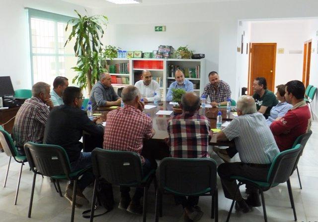 Reunión de la Junta con la agrupación de defensa sanitaria 'Alto Almanzora'