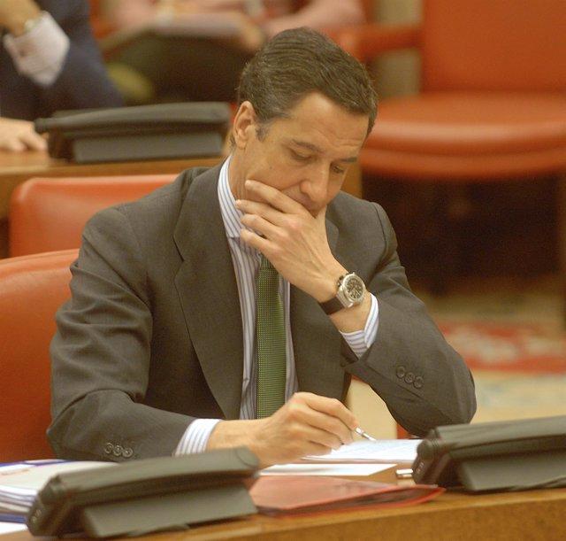 Eduardo Zaplana en su etapa de portavoz en el Congreso