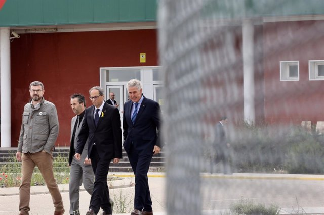 El presidente de la Generalitat, Quim Torra, en su visita a Estremera