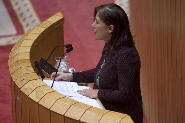 Beatriz Mato en el Parlamento gallego.