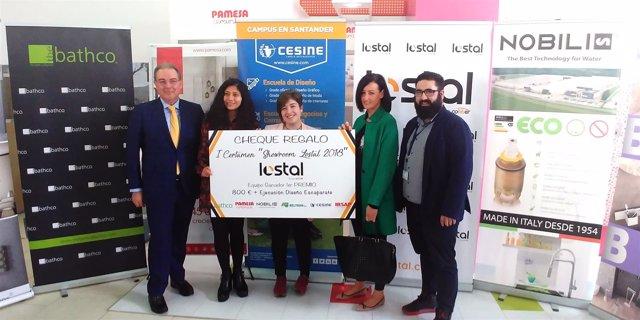 Alumnas de CESINE ganadoras del concurso de Lostal