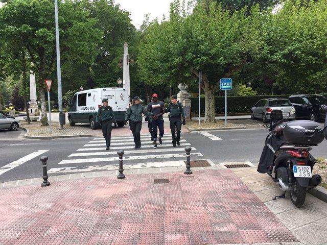 Chegada aos xulgados do acusado polo crime de Tatiana Vázquez