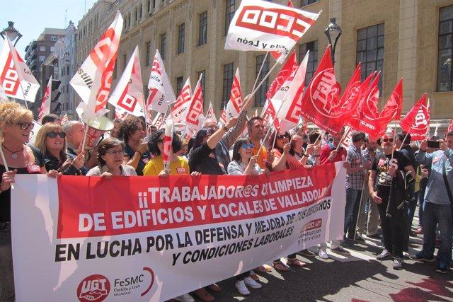 Concentración sindical ante la CVE. Valladolid 22/5/2018
