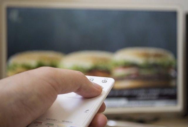 Anuncio de hamburguesa