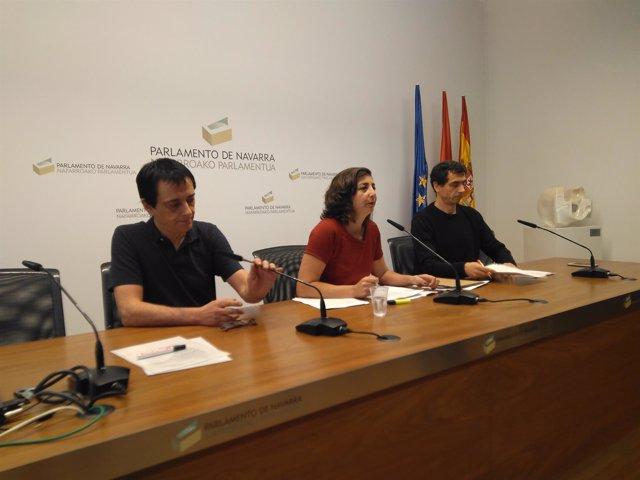 Carlos Couso, Laura Pérez y Rubén Velasco