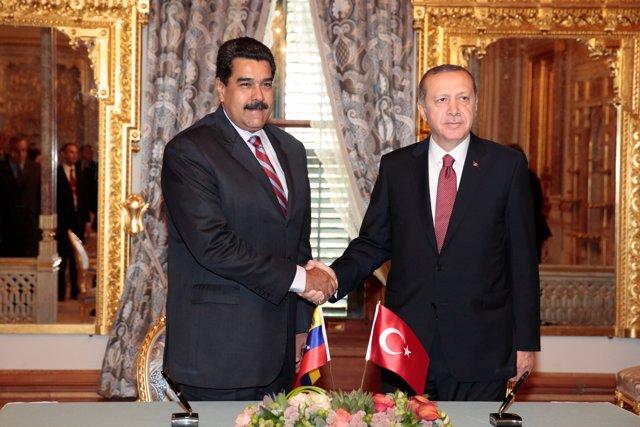 Nicolás Maduro y Recep Tayyip Erdogan