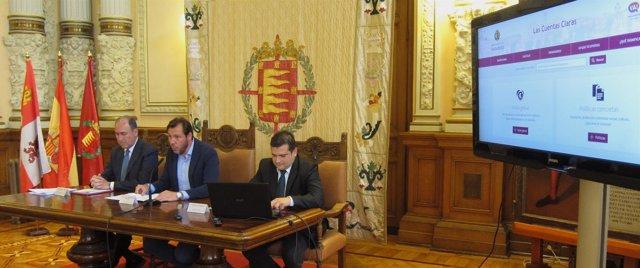 Presentación de la web sobre información presupuestaria de Valladolid. 21-5-2018