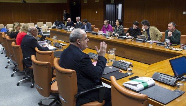 Foto de archivo de la ponencia de autogobierno del Parlamento Vasco