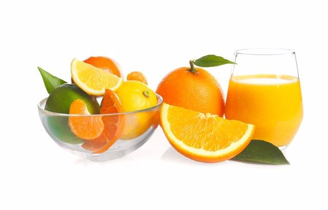 Zumoa de fruta, naranja