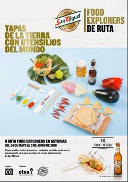 Cartel San Miguel Food Explores en Asturias