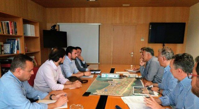Reunión Junta y Ayuntamiento por carril bice