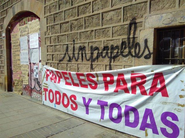 Encierro en la antigua escuela Massana de Barcelona