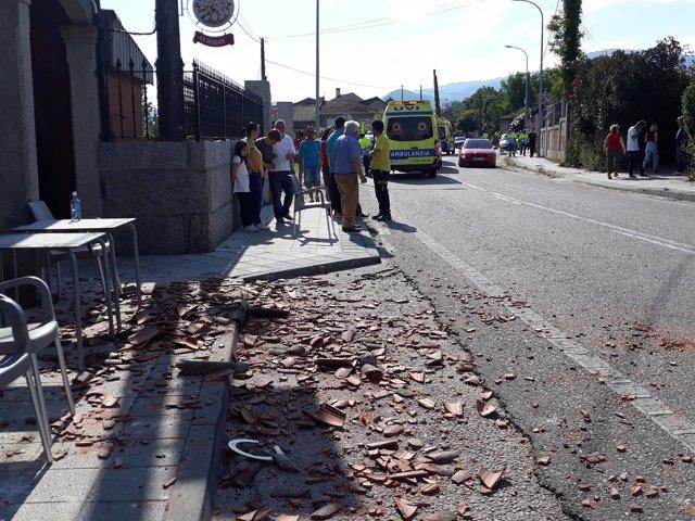 Efectos de la explosión en Tui (Pontevedra)