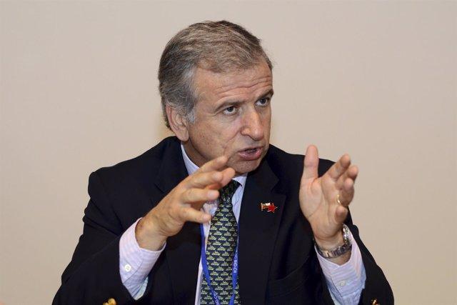 El vicepresidente de Chile y ministro de Hacienda, Felipe Larraín.