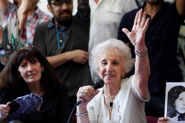 Estela de Carlotto, presidenta de la organización de derechos humanos Abuelas de