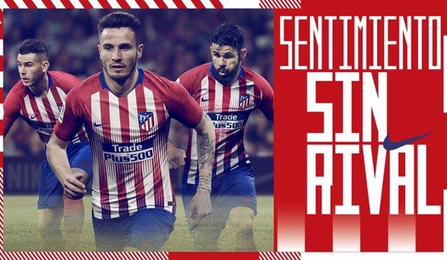 El Atlético presenta su nueva camiseta