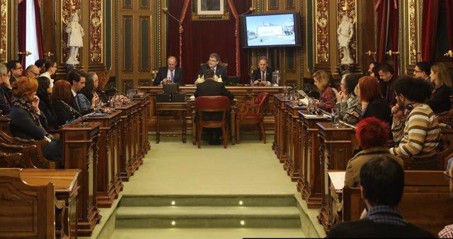 El pleno del Ayuntamiento de Bilbao (Foto Archivo)