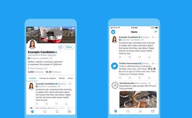 Twitter y sus etiquetas electorales