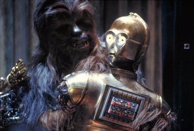 C-3PO y Chewbacca en Star Wars