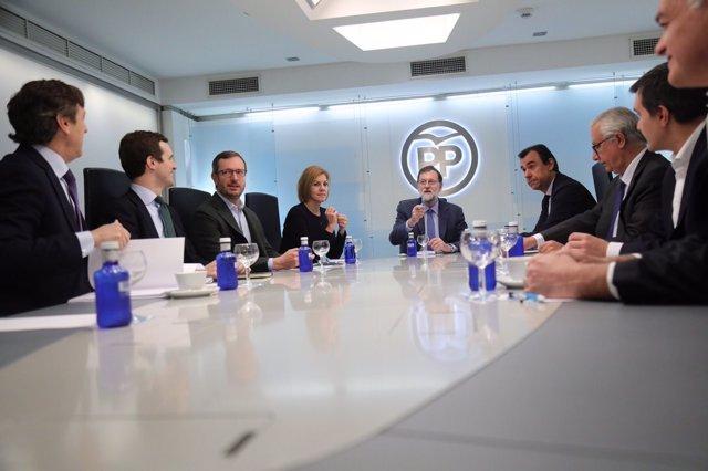 Rajoy preside la reunión del Comité de Dirección del PP