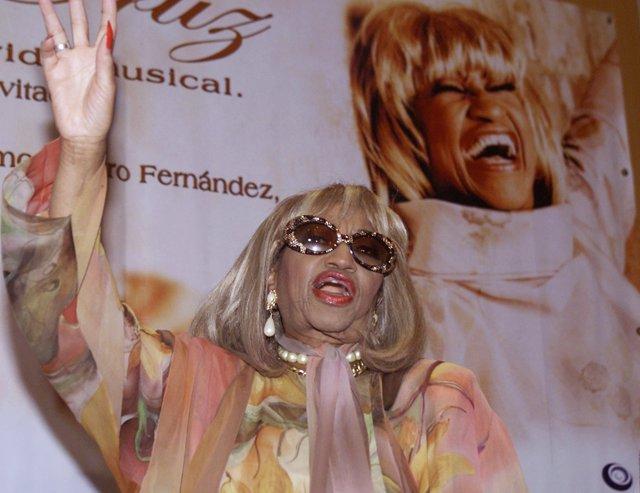 La cantante Celia Cruz