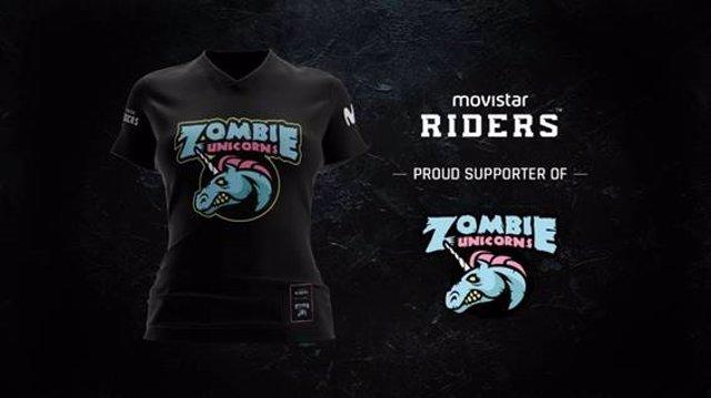 Movistar Riders se alía con el equipo femenino Zombie Unicorns