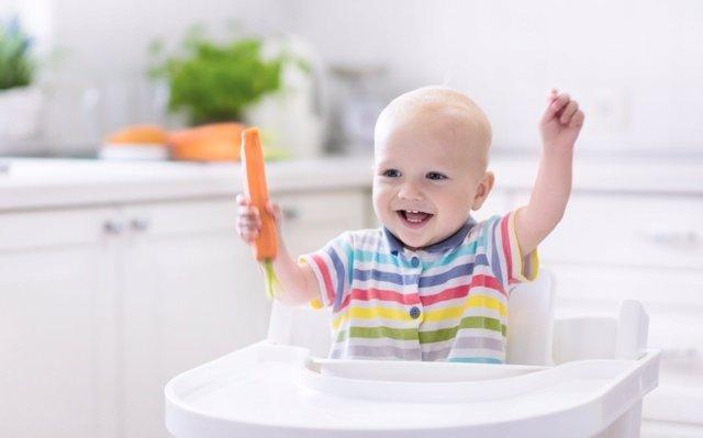 Alimentos sólidos para el bebé: nunca antes de los 6 meses