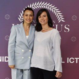La actriz Natalia Verbeke junto a la protagonista de 'Invictus', Marta Lozano