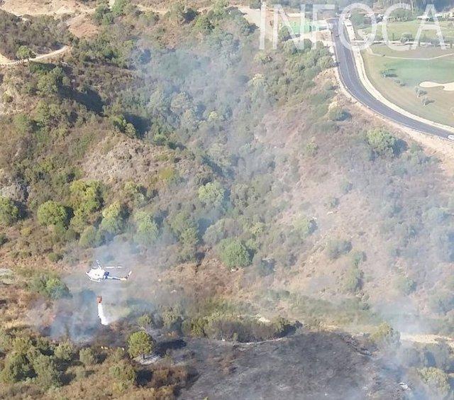 Incendio en Benahavís