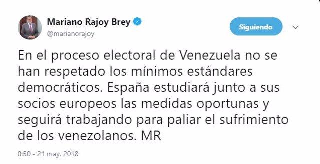 Mensaje de Mariano Rajoy
