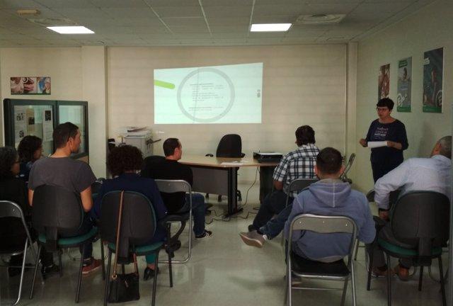 Alumnos del curso de financiación pública de empresas en CADE de Huércal Overa