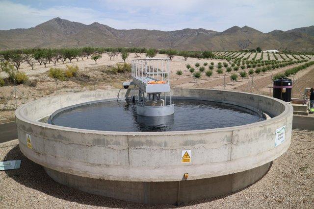 Planta EDAR de Uleila del Campo, que ha empezado a funcionar en pruebas