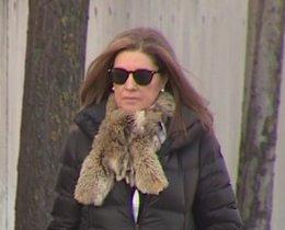 La mujer de Bárcenas, Rosalía Iglesias, llega a la Audiencia para declarar