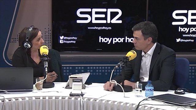 Pedro Sánchez en una entrevista radiofònica en la Cadena SER
