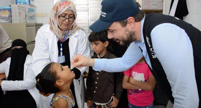 Campaña de vacunación contra el cólera en Yemen
