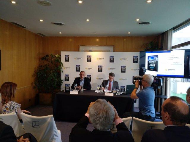Jordi Sevilla en la presentación del libro 'Qué está pasando con tu sanidad'
