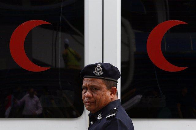 Miembro de la policía de Malasia