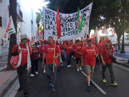 La marcha sindical por el desbloqueo del convenio de hostelería finaliza este viernes en Málaga