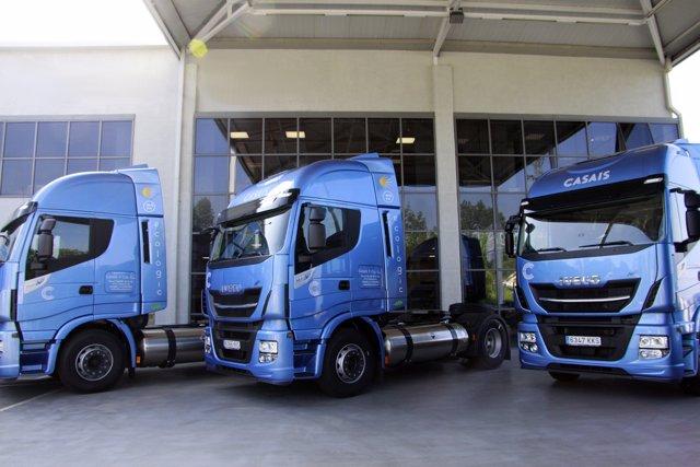 Camiones Iveco de Gas Natural Licuado